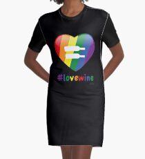 #lovewine (black shadow) Graphic T-Shirt Dress