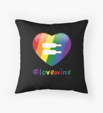 #lovewine (black shadow) Floor Pillow