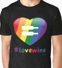 #lovewine (black shadow) Graphic T-Shirt