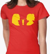 Milkshake Silhouette (V+B   Yellow) Women's Fitted T-Shirt