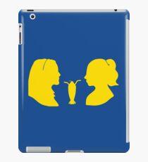 Milkshake Silhouette (V+B | Yellow) iPad Case/Skin