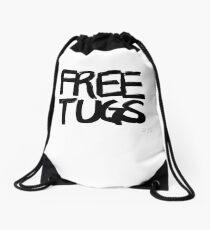 FREE TUGS (black) Drawstring Bag