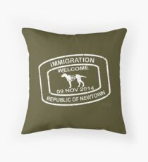 Republic of Newtown - Khaki Throw Pillow