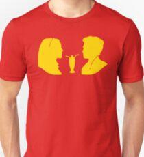 Milkshake Silhouette (V+A   Yellow) Unisex T-Shirt