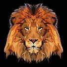 Lion Low Poly Art by EthosWear