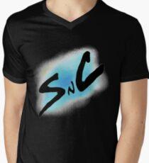 SnC Logo - Blue Men's V-Neck T-Shirt