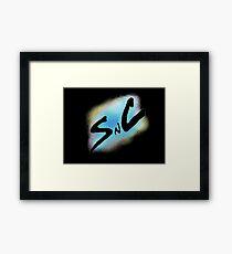 SnC Logo - Blue Framed Print