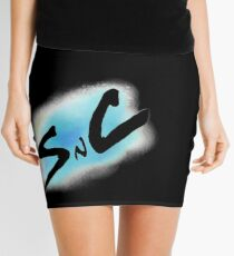 SnC Logo - Blue Mini Skirt