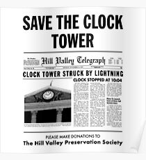Save The Clock Tower Merchendise Poster
