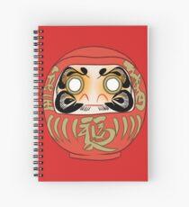 Daruma Doll Spiral Notebook