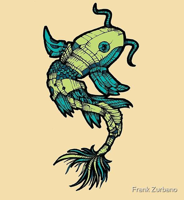 Fish - Green & Blue by Frank Zurbano