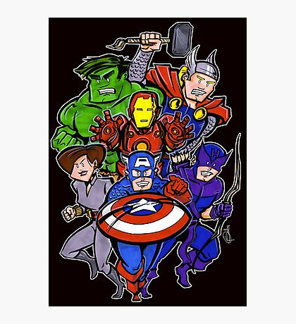 Mighty Heroes Photographic Print