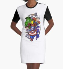 Mighty Heroes Graphic T-Shirt Dress