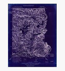 USGS Topo Map Washington State WA Mt Baker 242612 1909 250000 Inverted Photographic Print