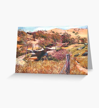 'Above Hughes Creek' Greeting Card