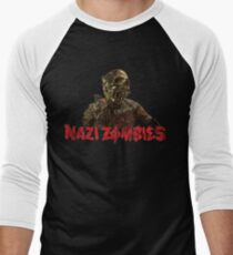 WWII Zombies Grrrr Men's Baseball ¾ T-Shirt
