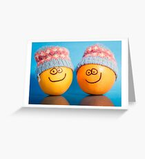 Orange Hats Greeting Card