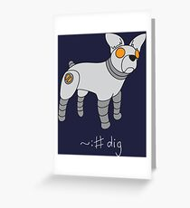 Angrybot: Prompt Dog Greeting Card