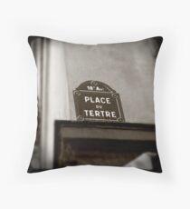 Place du Tertre Throw Pillow