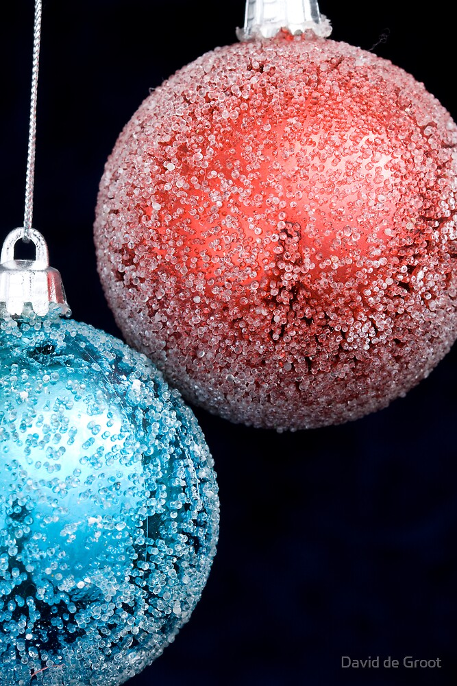 Red & Blue Christmas Baubles by David de Groot