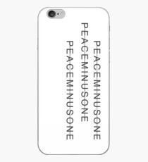 PeaceMinusOne 3 Zeilen iPhone-Hülle & Cover