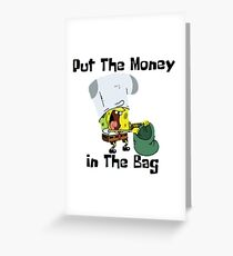 Spongebob Funny Greeting Card