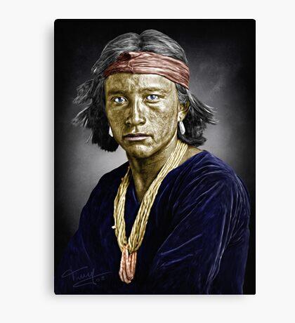 Navajo boy Canvas Print