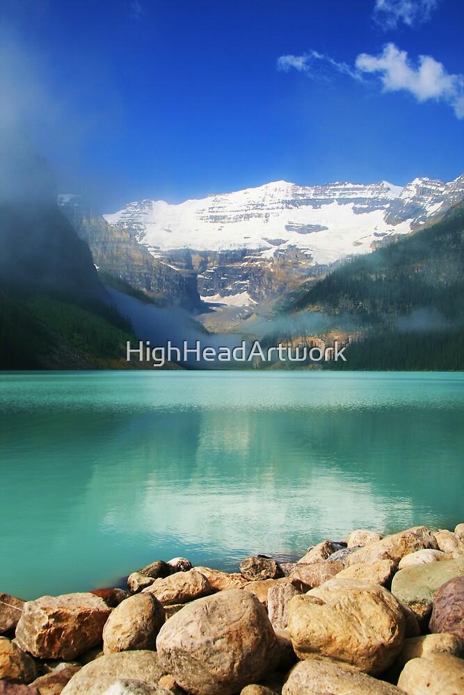 Lake Louise Alberta Rockies by HighHeadArtwork
