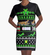 Frogger Road Christmas Pattern Dress - XS to 2XL
