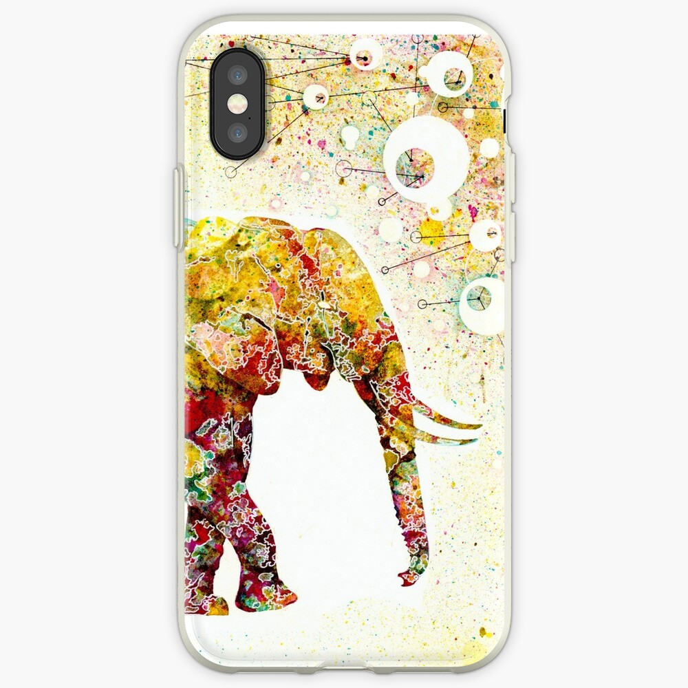 """""""Forever Young"""" Elephant Mutter und Baby iPhone-Hülle & Cover"""