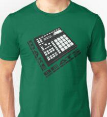 Machen Sie Beats Drum Machine BlackNwhite drucken Slim Fit T-Shirt