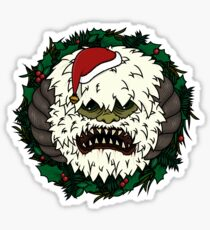 Festive Hoth Wampa Sticker