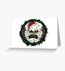 Festive Hoth Wampa Greeting Card