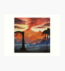 Red Mountain (colour) Art Print