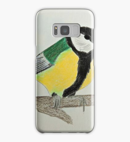 Great Tit Coloured Pencil Drawing Samsung Galaxy Case/Skin