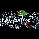 Oktoberfest Ranke mit traditionellen Symbolen. von Christine Krahl