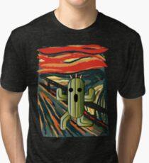 The cactilion scream Tri-blend T-Shirt