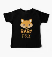 BABY Fox with mama fox and papa box Baby Tee