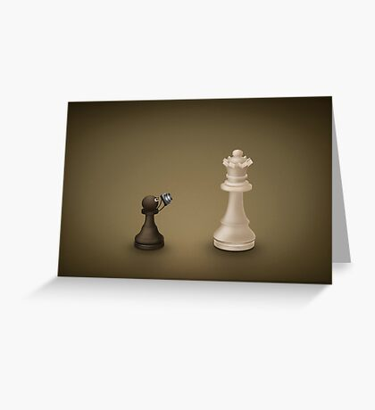 Pawn takes Queen Greeting Card
