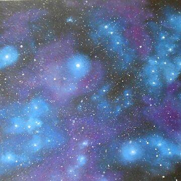 Nebula painting by PurpleMoose