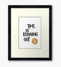 Time is running out Framed Print