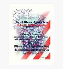 God Has Blessed America has has has  hassssssssss Art Print