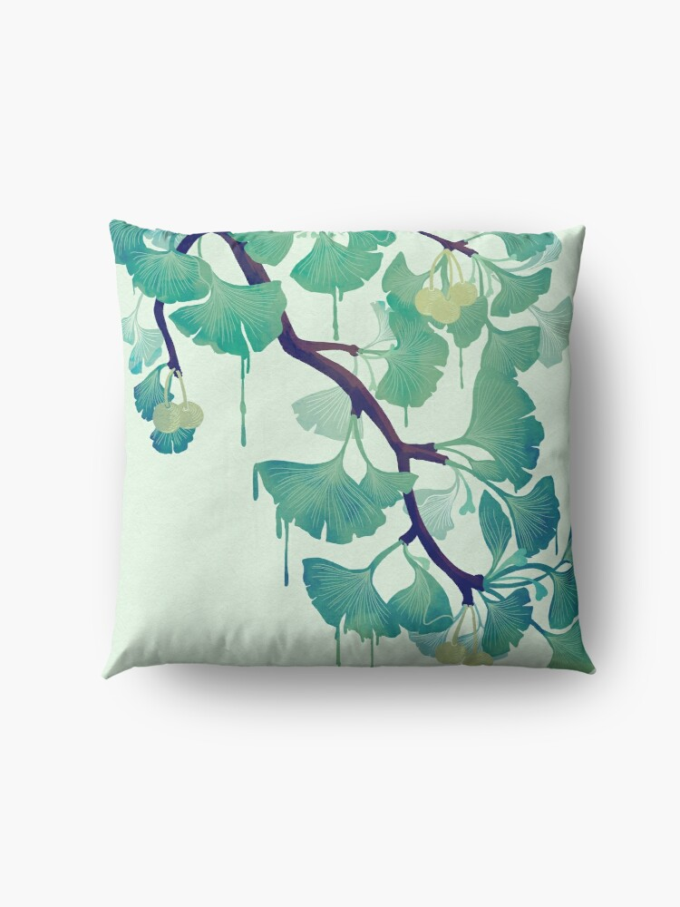 Alternate view of O Ginkgo (in Green) Floor Pillow