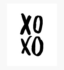XOXO Poster, Modern Wall Art, Brush Script Photographic Print