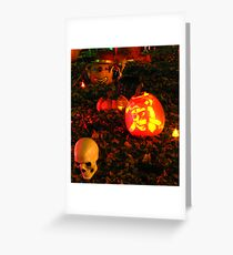 Pumpkins party Greeting Card