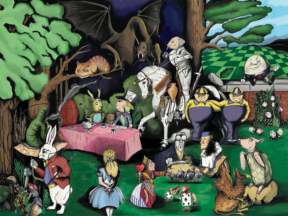 Alice in Wonderland by Sebastian Alappat