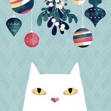Mistletoe? (White Cat) by littleclyde