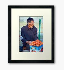 Hollow Cheeked Tomato Vendor Framed Print