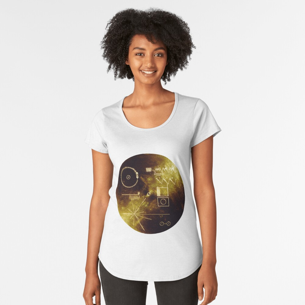 The Voyager Golden Record! Women's Premium T-Shirt Front