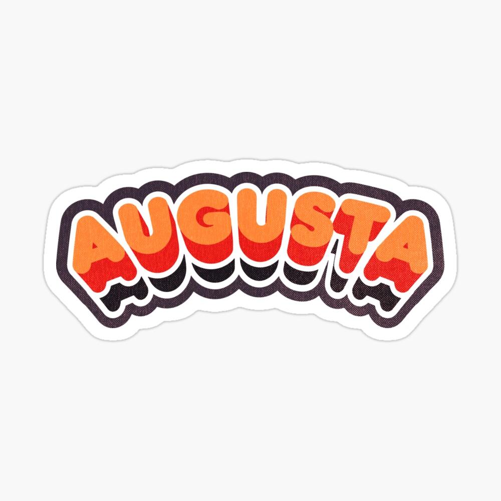Augusta, GA | Retro Curve Sticker